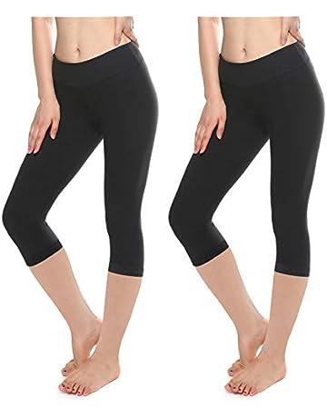 1114a06289220d KT Buttery Soft Leggings Capri for Women - High Waisted Leggings Pants with  Inner Pocket -