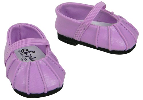Baby Doll Shoes, Fits Bitty Baby by American Girl, Lavender Ballerina Flat, Baby & Kids Zone