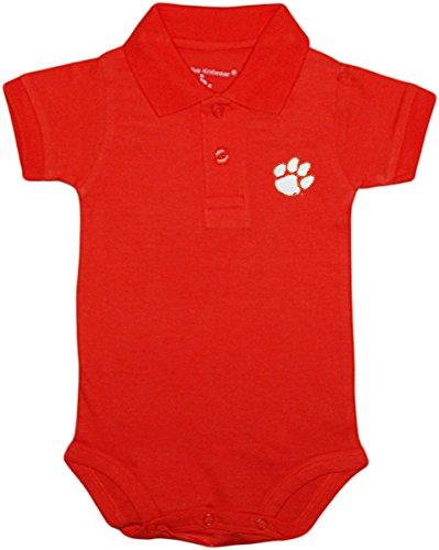 University of Clemson Tigers Newborn Polo Bodysuit, Orange, 3-6 Months