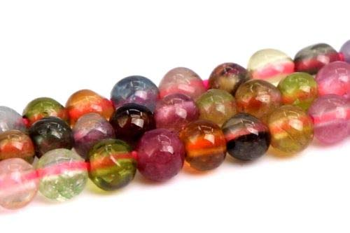 2mm Natural Multicolor Tourmaline Beads Grade Round Loose Beads 15.5
