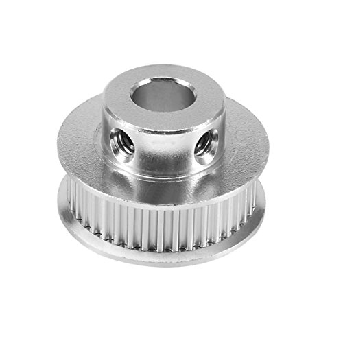 uxcell Aluminum GT2 40 Teeth 8mm Bore Timing Belt Pulley Flange Synchronous Wheel for 3D Printer