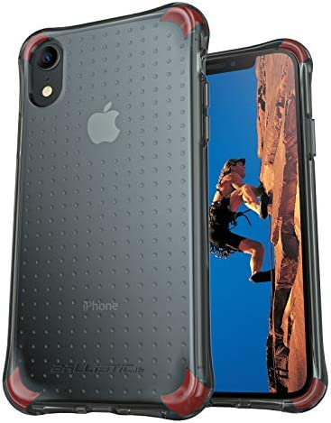Ballistic Clear Black Designed for iPhone XR Case, [Military Grade Drop Tested] Shockproof Protective XR Phone Case with [2 Sets B-Labs Corners] Slim Thin Cover 6.1 inch,Clear Black
