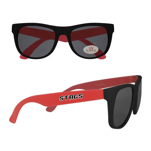 CollegeFanGear Fairfield Red Sunglasses 'Stags' -