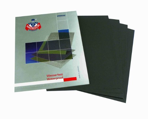 Wet and Dry Sandpaper 1000grit 5 sheets 230 x 280mm Waterproof Paper Highest Quality STARCKE MATADOR