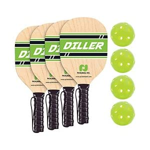 4 Player Diller Paddle and Ball Pack