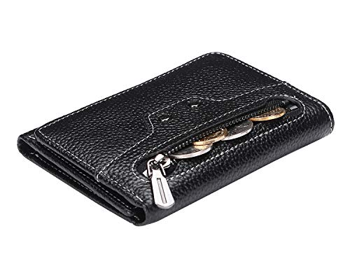 Ainimoer Small Leather Wallet For Women With Coin Pocket
