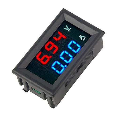 """Anmbest Mini Digital Multimeter 0-100V Voltmeter 0-50A Ammeter Panel Amp Volt Voltage Current Meter Tester with 0.28"""" Blue Red Dual LED Display"""