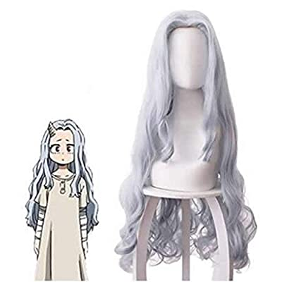 YMHQ Eri Cosplay Dress, 4 pcs My Hero Academia Costume Wig and Clip Eri Full Set: Clothing
