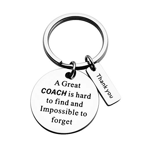 Coach Gifts, A Great Coach is Hard to Find Coach Keychain Thanksgiving Day Gift for Coach (Coach Keychain)