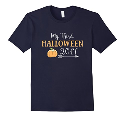 Mens 3rd Halloween Three Year Old Birthday T shirt 3XL Navy