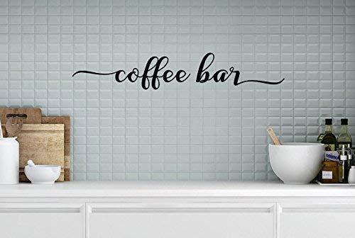 Amazon Com Coffee Bar Vinyl Coffee Bar Decal Coffee Bar Decor