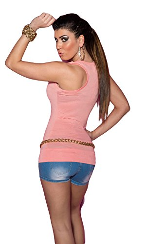KouCla - Camiseta sin mangas - para mujer Salmón