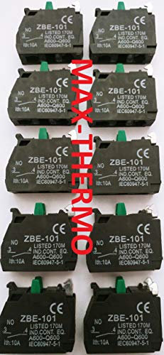 10 pcs of ZBE-101 N.O FITS for TELEMECANIQUE Schneider Contact Block