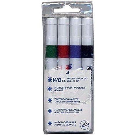 Rotuladores para pizarra blanca (4 unidades, tinta no tóxica ...