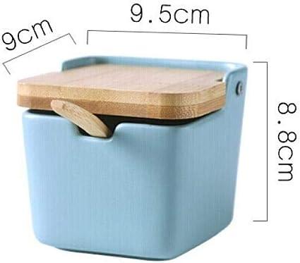 Nuobaby Kruiddoos Kruidendoos Container Kruidenpot Kruidenbak Voedsel Kruidendoos Keuken Keramische Kruiden Pot Houten Deksel Kruiden Pot Single Pack Groen Amazon Nl