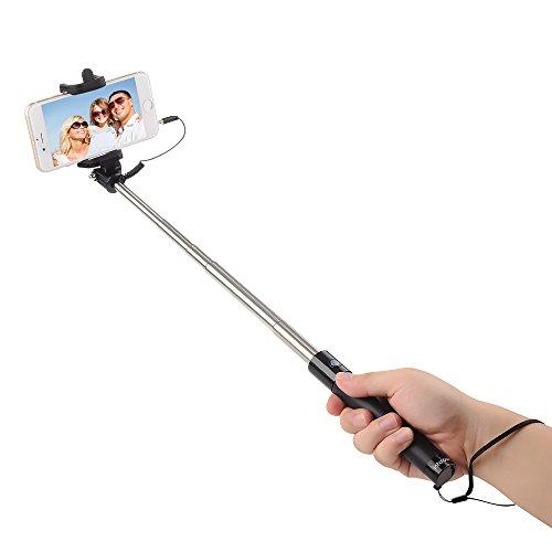 save 67 intcrown selfie stick extendable self portrait monopod black. Black Bedroom Furniture Sets. Home Design Ideas