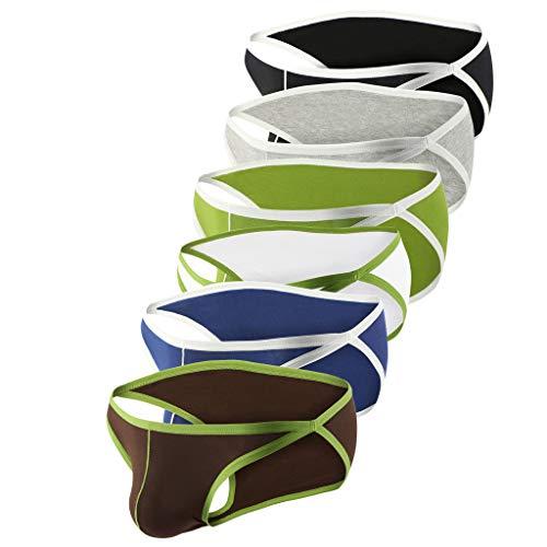 MmNote mens underwear, 6PC Men's Sport Stretch Flex Comfort Luxury Antimicrobial Pouch BoxerBriefs (Boys Dc Snowboard Pants)