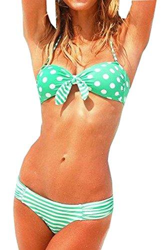 Fedo Design Women's Sexy Swimsuit Double Colors Polka Dot Popular Bikini
