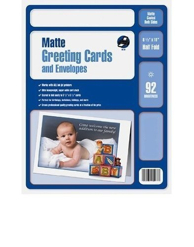 Ibm Photo - 300 Matte Inkjet Photo Quality Greeting Cards with Envelopes
