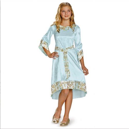Disney Maleficent Movie Aurora Girls Blue Dress Classic Costume, Large/10-12]()