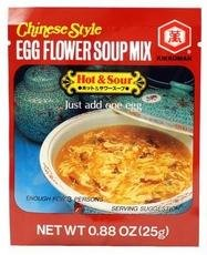 Egg Flower Soup - Kikkoman Soup Egg Flower Hot & Sour, 0.88 oz