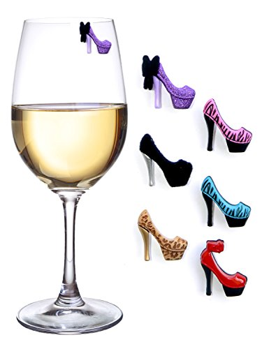 high heel wine charms - 1