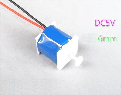 Leyal 2pcs DC 5V 6mm Push Pull Type Electromagnet Magnet Solenoid for DIY Accessories