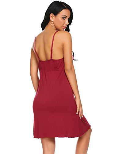 Donna Camicia nbsp;Notte in Maniche Pizzo Nightdress rosso nbsp;da Sottoveste Senza Unibelle B Sexy Babydoll FtpqSxpd