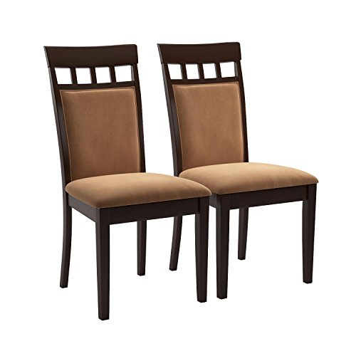 Coaster Cushion Back Dining Chairs, Cappuccino, Set of 2