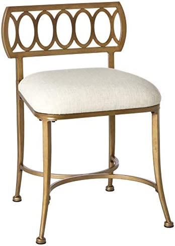 picture of Hillsdale Furniture Canal Street Stool, Gold Bronze