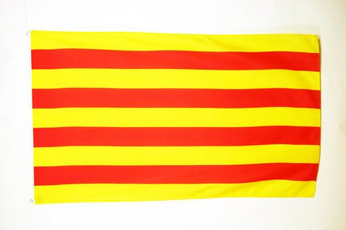 Catalan Flag (CATALONIA FLAG 3' x 5' - CATALAN FLAGS 90 x 150 cm - BANNER 3x5 ft - AZ FLAG)