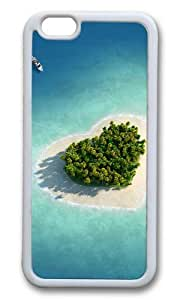 MOKSHOP Adorable Heart shaped at sea Soft Case Protective Shell Cell Phone Cover For Apple Iphone 6 (4.7 Inch) - TPU White