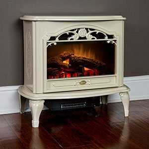 Dimplex TDS8515TC Celeste Electric Stove Heater, Glossy Cream