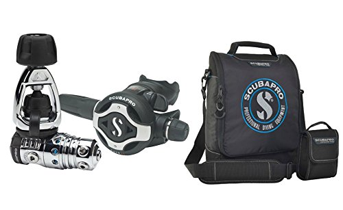 Regulator Double System Bag (Scubapro MK25 EVO S620Ti Scuba Diving Regulator, Black W/Travel Regulator Bag)