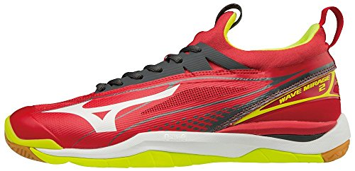 Running Wave White Chaussures 2 Yellow Mirage Mars Sun Mizuno de Homme Red qwHSfw1