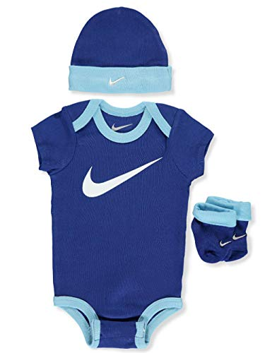 Nike Baby Boys' 3-Piece Layette Set - Navy Blue, 0-6 Months (Infant Boy Nike Clothing)