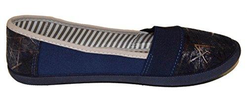 BTS - Zapatillas de running de Lona para mujer Multicolor - Dunkel Blau