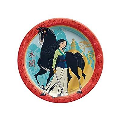 """Mulan 9"""" Round Metallic Plates: Toys & Games"""