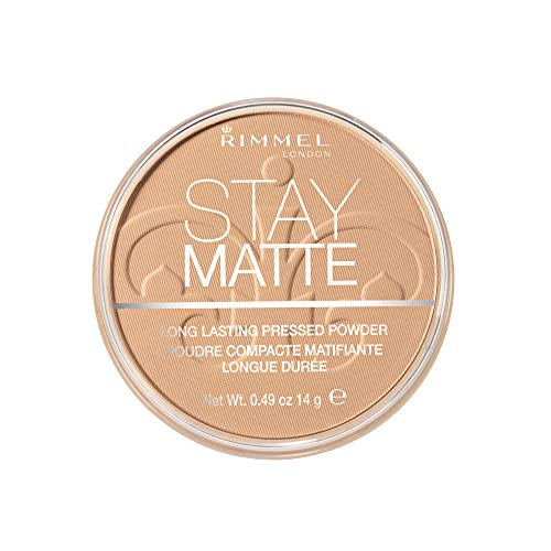 Rimmel London Stay Matte Pressed Powder, Warm Beige, 0.49 Ounce