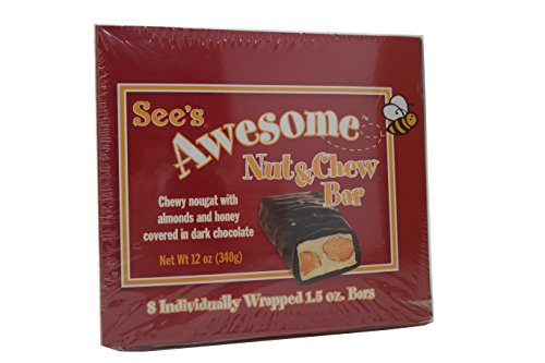 See's Candies 12 oz. Awesome Nut & Chew Bar Aged Chocolate Candy