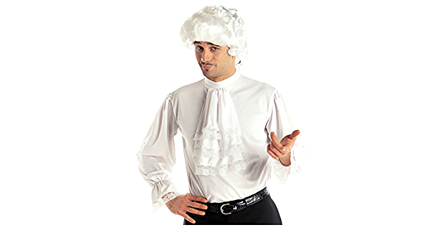 Amakando Camiseta Medieval Camisa de Volantes Blanca M/L 50/52 Ropa Medieval Hombre Disfraz Noble Renacimiento Camiseta Masculina barroca con Vuelo ...
