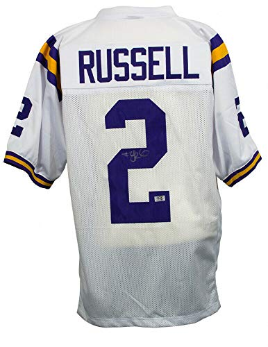 (Jamarcus Russell Autographed Signed Memorabilia Lsu Tigers Jersey Si Coa #1 Overall Pick 2007 Draft - Certified Authentic )