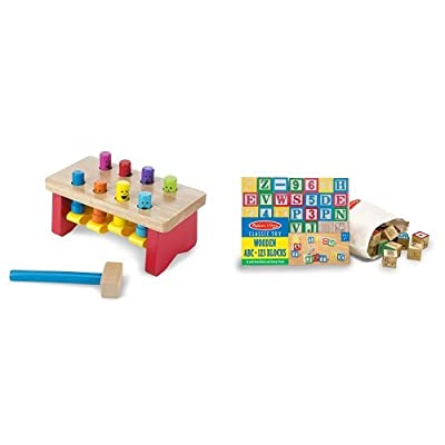 Melissa & Doug Classic Wooden Toy Bundle: Toys & Games