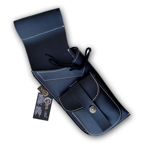 (Carol TRADITIONAL SYNTHETIC LEATHER SIDE/HIP QUIVER SAQ119 R/H BLACK )
