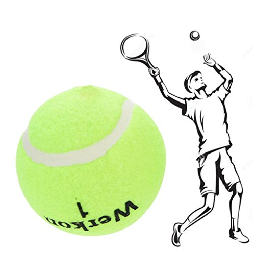 Tennis Training Ball,3Pcs Resiliency Tennis Balls With Rope (green) (Packages Tennis String)