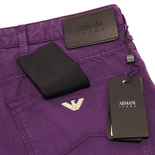 5 Trouser Tasche Cotton Armani Jeans uomo 0998X Viola Men Pantalone Purple q4nSnfxwE0