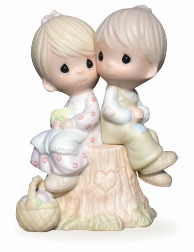 Love Porcelain (Precious Moments,  Love One Another, Bisque Porcelain Figurine, E1376)