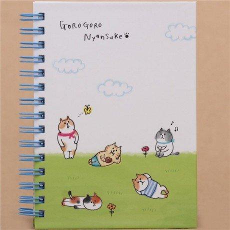 Kawaii verde de Blanca Gatos Wiese Anillo libro de cuaderno de Japón: Amazon.es: Oficina y papelería