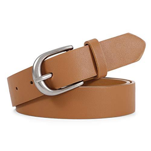 Women Leather Belt for Jeans Pants Plus Size Western Design Belt Alloy Buckle
