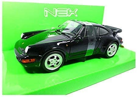 Welly 24023 Porsche 911 Turbo 3.0 Nero 1974 Scala 1:24 Modellino Auto 964